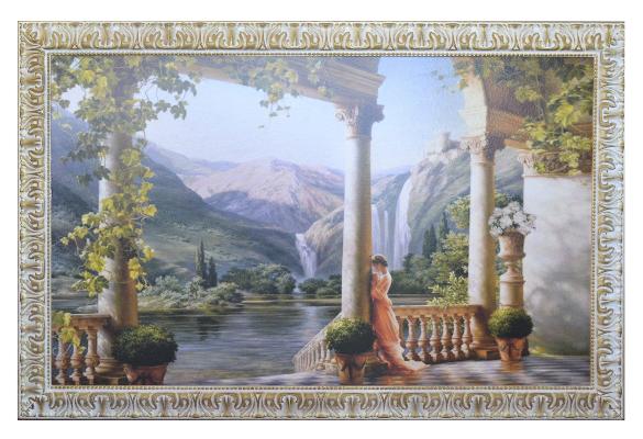 cornice-146x96-con-paesaggio-e--fanciulla-